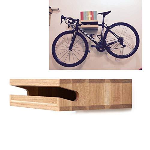 JXS Parete Design Bike Shelf Shelf - Legno Naturale Parete del Supporto della Bicicletta - per Lo stoccaggio al Coperto,Primarycolor