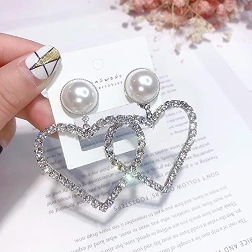 Regalos Pendientes Corazón Mujeres en Forma de corazón Love Love Woemn Ladies Dangle Pendientes 03