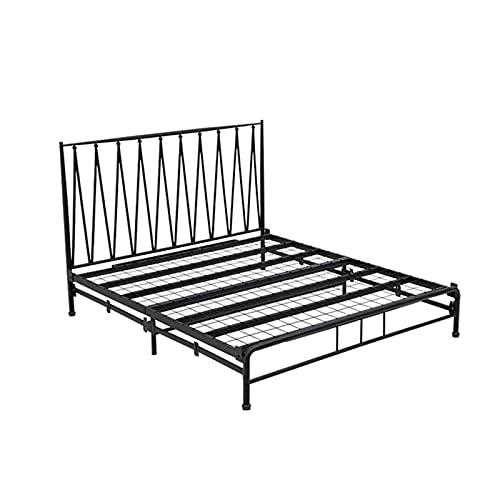 Somier Marco de Cama Doble de Metal, Marco de Cama Plegable para Dormitorio y Oficina, Fácil de Instalar/antioxidante(Size:120x200cm)