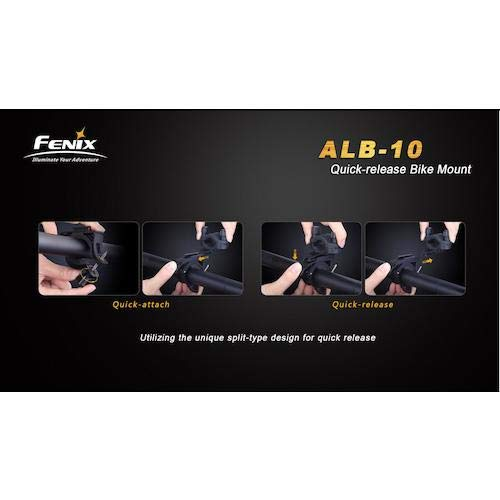 Fenix Sport Lampenhalterung Fahrrad-Halterung ALB-10 Black, STANDARD - 6
