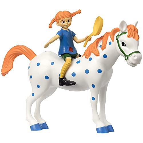Mini Puppenhaus Figuren – Kunststoff Puppenhaus Zubehör – Pippi Langstrumpf Figuren für Mädchen und Jungen – Alter 3+, Größe 10 cm