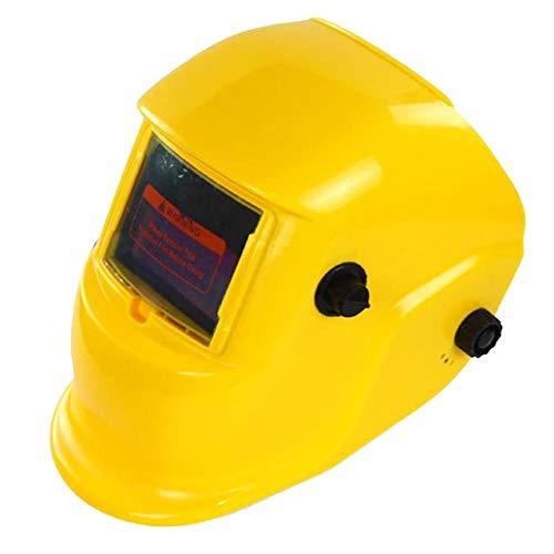 GXDJQDHMZ Eine Abdeckung Glasmaske Schutzausrüstung Verstellbereich des automatischen Schweißhelm Solar-rosa Schweißhelm (Color : C-1)