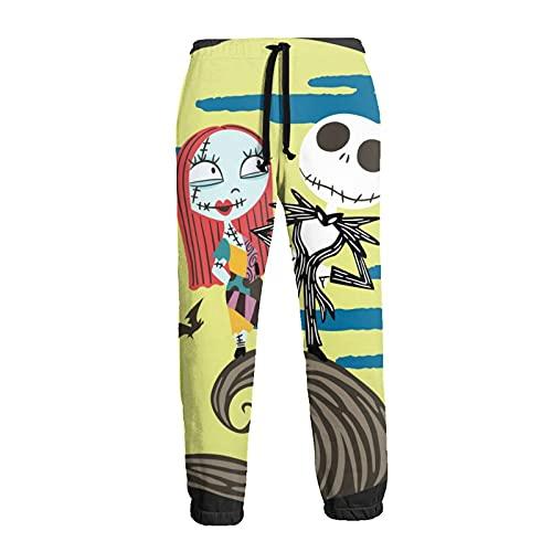 Inaayayi Pantaloni della tuta casual da uomo pantaloni allentati pantaloni atletici pantaloni yoga, 4 L'incubo prima di Natale, 3XL