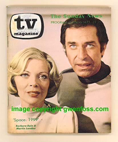 TV Magazine : September 21-27, 1975 ; Barbara Bain, Martin Landau, Space 1999 Cover Photo