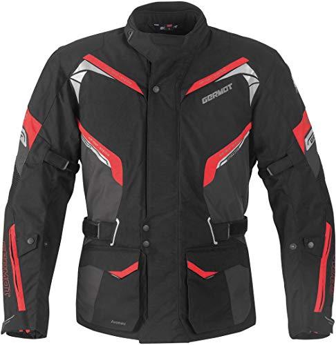 Germot Avenue Motorrad Textiljacke XXL Schwarz/Grau/Rot