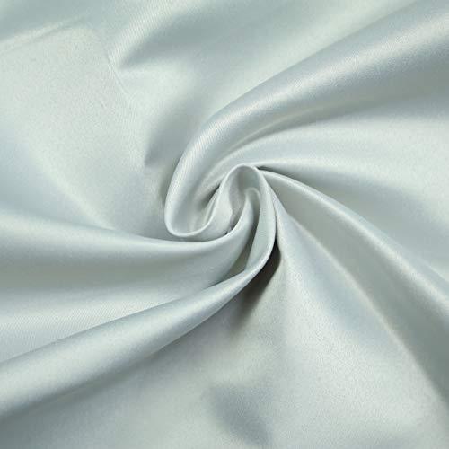 Textile Plaza Duchess Satin-Stoff, einfarbig, glatt, matt, Brautkleid, 147,3 cm, Meterware (Silbergrau 4689)