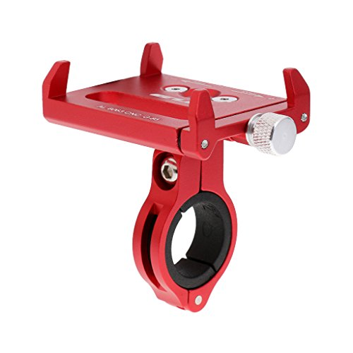 Homyl Montaje Ajustable de Bicicleta, Soporte Universal de Teléfono de Bicicleta de Ciclo de Bicicleta y Sostenedor de Motocicleta Soporte de Clip de Cuna - Rojo