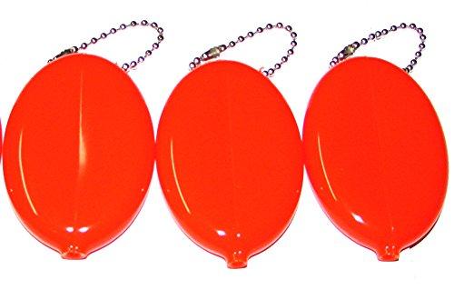 Rubber Coin Purse Portemonnaie 3er Set, Orange - Größe: Einheitsgröße