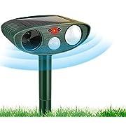 Mespirit Solar Animal Repeller, Outdoor Motion Detector& Flashing Light, Cat Repellent, Dog,Squirrel,Birds,Raccoon, Skunk, Rat, Mole, Deer, Rabbit
