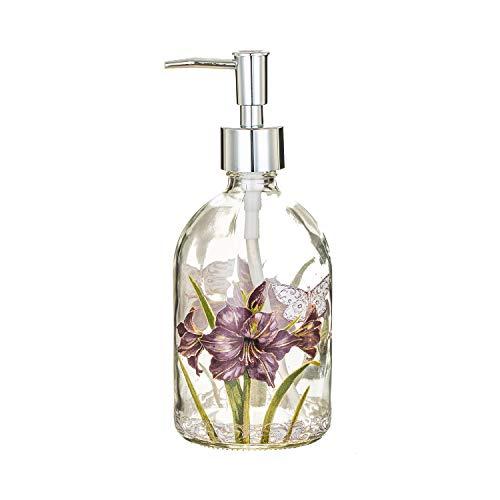 Glass Soap Dispenser Bottle 17 ounces with Plastic Pump