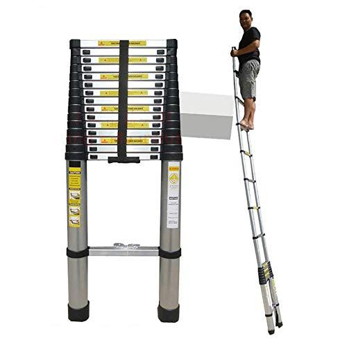 DGHJK Escalera telescópica de Aluminio Extra Alta de 20 pies, Escalera Recta...