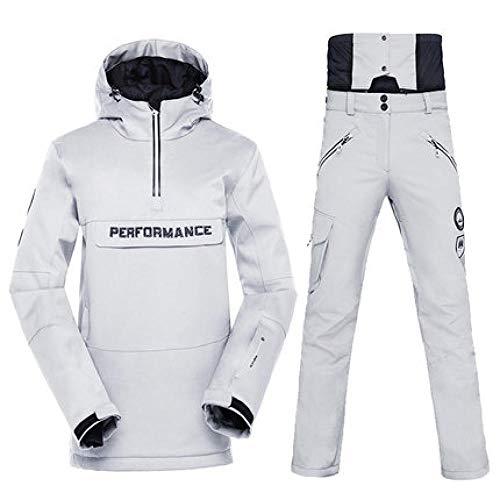 ZYJANO Combinaison de Ski Costume de Ski, d' Hiver en Plein air, monocarte, Double Ski, Coupe - Vent, imperméable, Chaud et épais Costume de Ski, Color4, XL