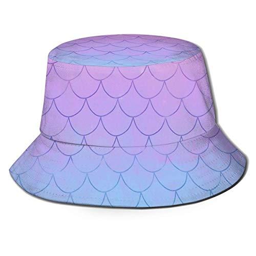 Mermaid Fish Scales 7 Sombreros para Hombres al Aire Libre Sombrero de Cubo Gorra de pez Hombres Sombrero de Sol de ala Ancha