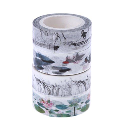 Yangfr Washi-Tape, dekoratives Klebeband, zum Selbermachen, Vintage-Stil, Retro, chinesischer Stil, Washi-Tape, dekorativ, Studenten