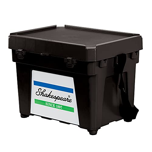 Shakespeare Fishing Seatbox (Comes with Strap and 1 X Tray), Black