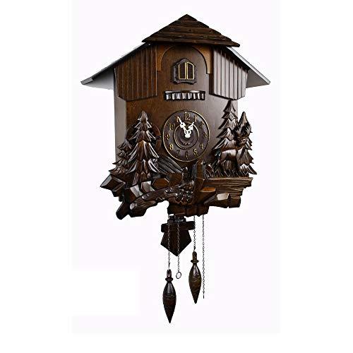 VSander Grado De Cuco De Madera Retro Reloj del Sistema Original De Zhongtai Yang Saltar Segunda Chronopher Reloj Reloj Óptico Arrullo Dimensiones De Relojes Que Viven 54 * 50 * 18 Cm
