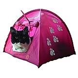 Eukanuba Katzenzelt Pink - Katzen Höhle Spielzeug Haus