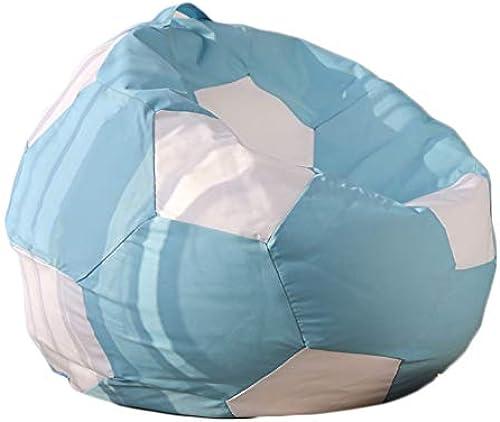 CAIJUN-Sitzsack Multifunktions Ergonomie Polyester Leinwand Wasserdicht Griff Design Umweltschutz Fußball-Styling, 4 Farben, 2 Größe (Farbe   Blau, Größe   100x45cm)