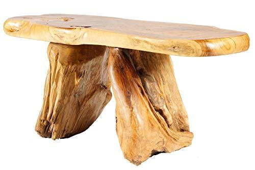 Windalf Natuur zitbank Pippin 118 cm rustieke landelijke stijl handgemaakt van wortelhout