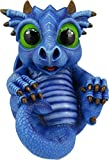 World of Wonders - Dreamland Dragons Series - Periwinkle - Collectible Periwinkle The Sky Dragon Figurine with Official Birth Certificate   Fantasy Home Decor Accent, Blue