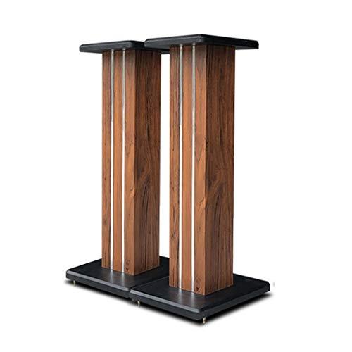 Standfüße Lautsprecherständer Heimkino Universal-Lautsprecherständer Robuster Surround-Soundbox-Ständer Bodentheater-Audioständer (Color : Brown, Size : 80cm)
