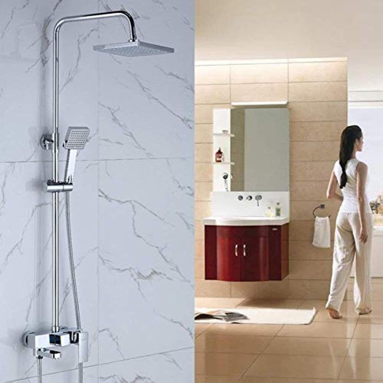 FuweiEncore Dusche-Kit Dusche Bad Dusche Square Lift Handbrause mit Aufladung Wasserhahn
