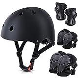 Conido Toddler Helmet, Kids Bike Helmet, Kids Protective Gear Set with Helmet CPSC Certified with Knee Pads Elbow Pads Wrist Guards, Kids Skateboard Helmet for Boy Girl 3-10 Years