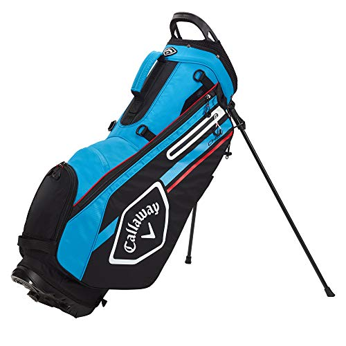 Callaway Golf CHEV Stand Bag Black Cyan Red , Black/Cyan/Fire Red