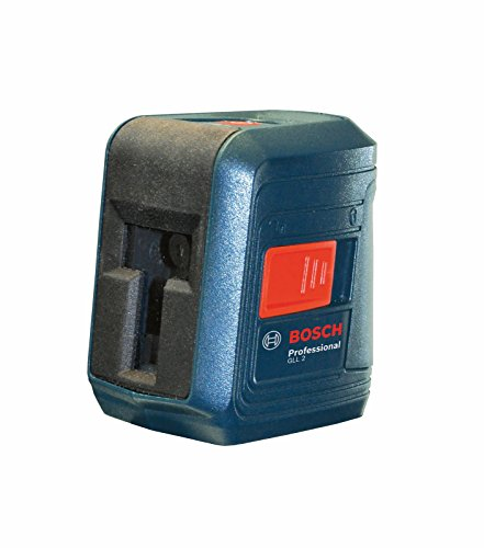 BOSCH GLL 2 Self-Correcting Cross Line Laser Level with Mounting Device (AA Batteries Included)
