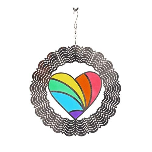 Wind Chimes Outdoor Window Hanging Home Decoration Crafts Ornaments Classic 3D Metal Wind Spinner Multicolored Art Garden Wind Chimes (Color : 2)