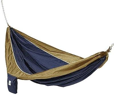 Hammaka Parachute Silk Lightweight Portable Double Hammock In Blue / Brown