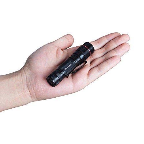 Coomatec SD-200 Mini EDC Linterna Táctica LED, Zoom, 350lm 3 Modos, Resistente Al Agua, día del Padre
