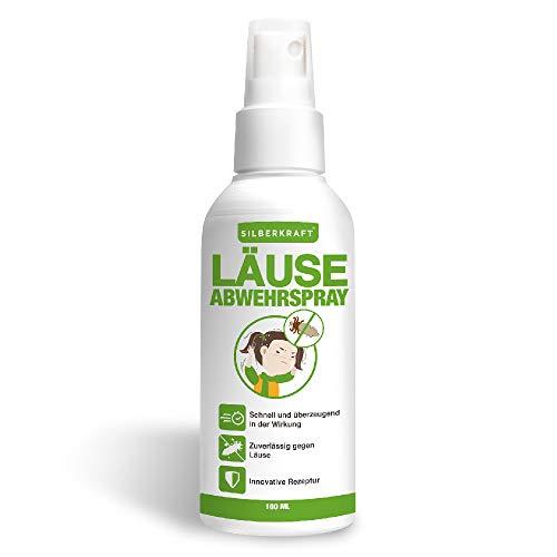 Silberkraft Kopfläusespray 100 ml, für Kinder geeignet, Läusespray, zuverlässiger Läuseschutz für Abwehr und Vorbeugung von Läusen und Nissen, wirksame Alternative zu Kopfläuse Kamm & Shampoo