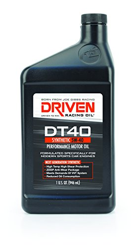 Driven Racing Oil 02406 DT40 High Zinc Synthetic Oil (5w-40 Quart), 1 quart
