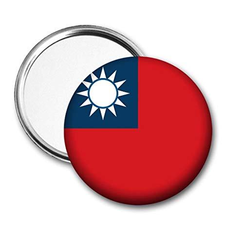 Taiwan Vlag Pocket Spiegel voor Handtas - Handtas - Cadeau - Verjaardag - Kerstmis - Stocking Filler - Secret Santa