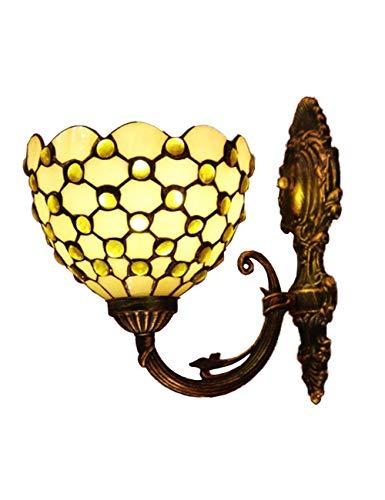 DALUXE Luz de Pared LED, Deróduras, Sombra de vidrieras, Estilo Minimalista Nórdico, Café Bar Dormitorio Sala de Estar Living Bang Mirror Front Lighting