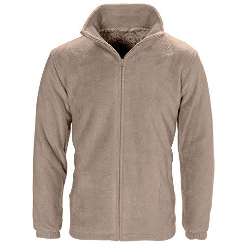 Veste unisexe en micro-polaire, anti-bouloches, pour homme et femme, tailles S-XXXL par MYSHOESTORE - Beige - Small