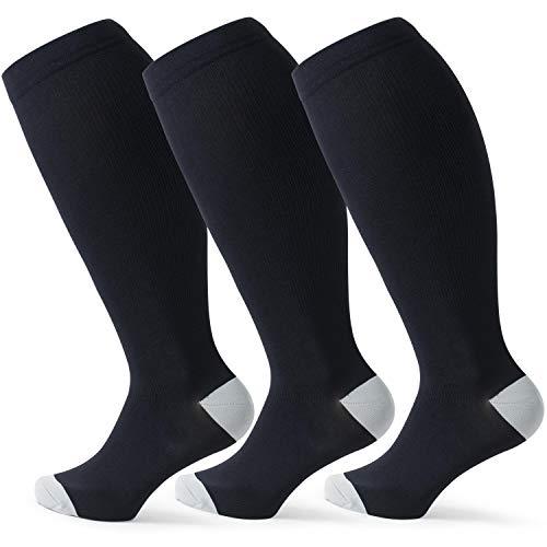 Wild Calf Compression Socks for Women & Men Large Size Circulation 15-20 mmHg