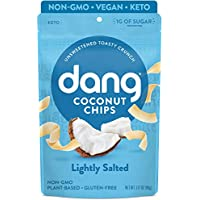 Dang Keto Toasted Lightly Salted Unsweetened Coconut Chips