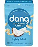 Dang Keto Toasted Coconut Chips |Lightly Salted Unsweetened|1 Pack| Keto Certified, Vegan, Gluten Free, Paleo Friendly, Non GMO, Unsweetened Healthy Snacks Made with Whole Foods|3.17Oz Resealable Bags
