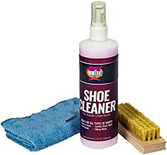 Quick N Brite 12 oz Shoe Cleaner Kit with Brush, Microfiber cloth. for cleaning Sneakers, Tennis shoes, Canvas, Plastic, Mesh, Knit and More