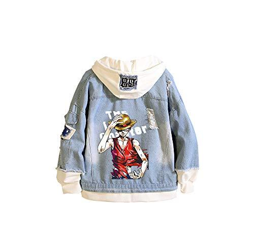 CXWLK ONE Piece Monkey D. Luffy Roronoa Zoro Unisex Sommer Super Leichte Outdoor Sonnenschutz Softshell Jacke Dünne Fahrradjacke,Blue,XXL