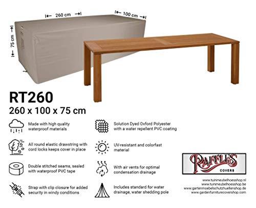 Raffles Covers NW-RT260 Tuintafel beschermhoes 260 x 100 H: 75 cm Cover voor tuintafel, Outdoor cover voor tafel, Cover voor terrastafel