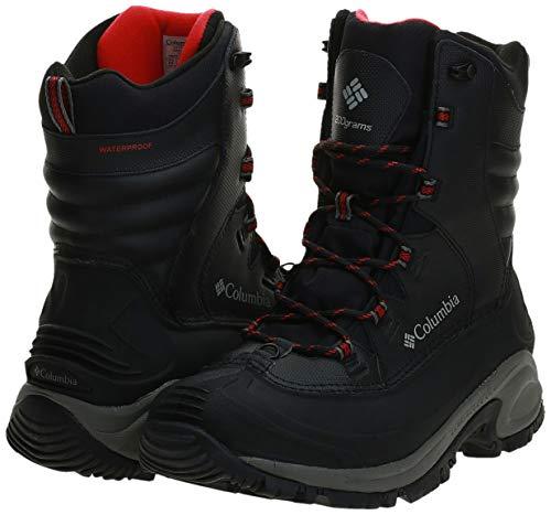 Columbia Men's Bugaboot III Snow Boot, Black/Bright Red, 11