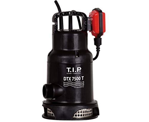 T.I.P. 30258 dauerlauffeste Schmutzwasser Tauchpumpe Umwälzpumpe DTX 7500 T inkl. Trägersystem , bis 7.500 l/h Fördermenge