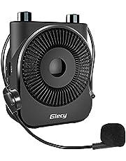 Giecy Amplificador de Voz portátil con micrófono 20W batería Recargable de 2600 mah, Sistema de pa,Ligero Amplificador Voz para Profesores,guías turísticos,Entrenadores,Yoga