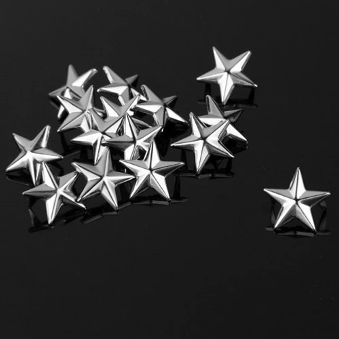 Vikeva 100 15mm Star Studs Spots Punk Rock Nailheads Spikes for Bag Shoes Bracelet