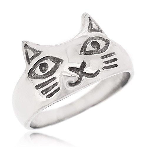 Sovats Damen Niedliche Katze-Ring, Größe 56