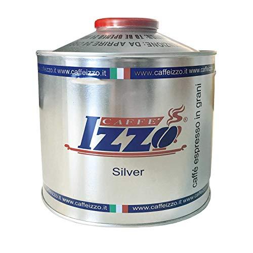 IZZO Espresso Napoletano Silver 6 x 1kg Dose ganze Bohne im Aufsatz, silber