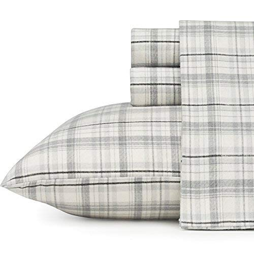 Eddie Bauer 216283 Beacon Hill Flannel Sheet Set, King